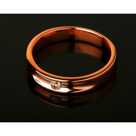 Кольцо из розового золота с бриллиантом Артикул: 030816/7