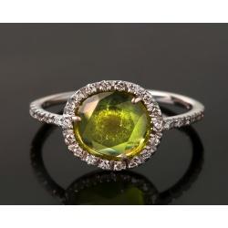Золотое кольцо с бриллиантами. Pomelatto