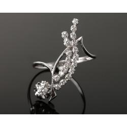Искусное золотое кольцо с бриллиантами 0.42ct