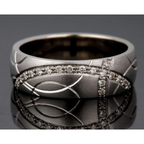 Изящное золотое кольцо с бриллиантами. Артикул: 170416/7
