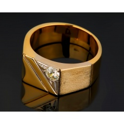Бриллиантовая мужская печатка