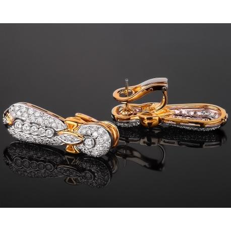 Роскошные серьги с бриллиантовым паве 2.10ct Артикул: 060517/10