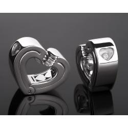 Chopard бриллиантовые серьги - сердечки