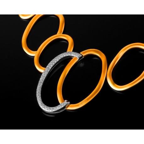 Золотое колье с бриллиантами и сапфирами 0.65ct Артикул: 310317/6