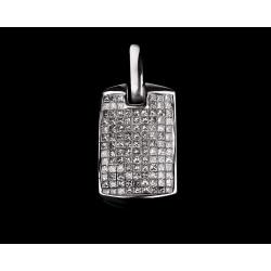 Модная золотая подвеска с бриллиантами 2.20ct