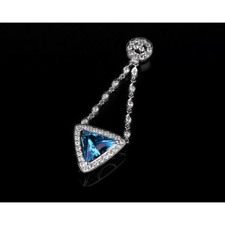 Золотая подвеска с топазом и бриллиантами 1.45ct Артикул: 170217/6