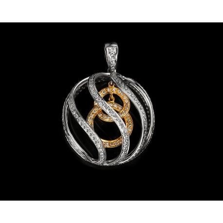Прекрасная золотая подвеска с бриллиантами 1.35ct Артикул: 200816/3