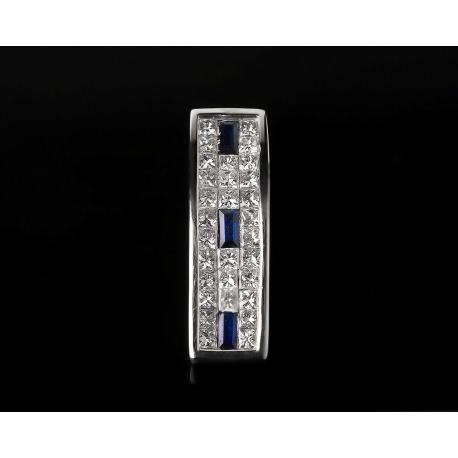 Золотой кулон с сапфирами и бриллиантами 0.6ct. Артикул: 180316/4-3