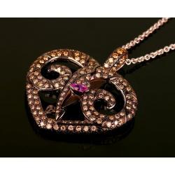 Золотой кулон с бриллиантами 1.19ct. Vendome