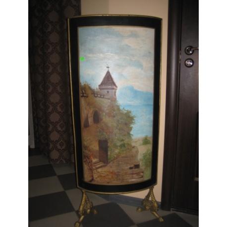 Каминный старинный экран