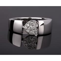 Piaget heart золотое кольцо с бриллиантами 0.10ct