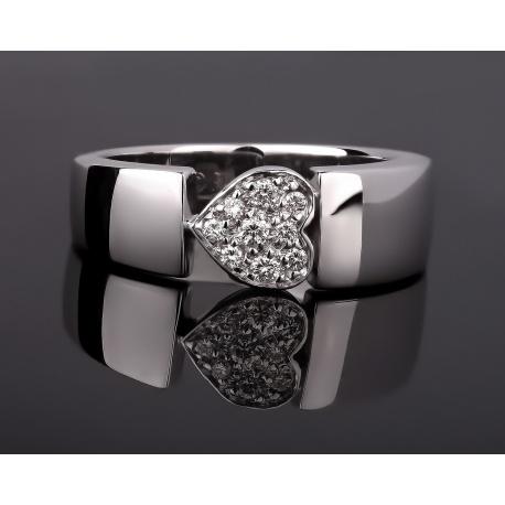Piaget heart золотое кольцо с бриллиантами 0.10ct Артикул: 210917/1