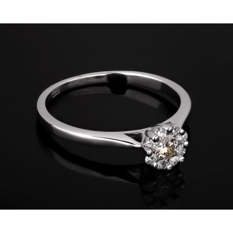 Стильное золотое кольцо с бриллиантами 0.27ct Артикул: 100817/25