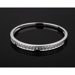 Золотое кольцо-дорожка с бриллиантами 0.26ct