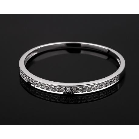 Золотое кольцо-дорожка с бриллиантами 0.26ct Артикул: 210317/33