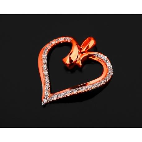 Золотая подвеска с бриллиантами 0.10ct Артикул: 250617/7