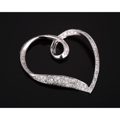 Романтичная золотая подвеска с бриллиантами 0.35ct Артикул: 130617/3
