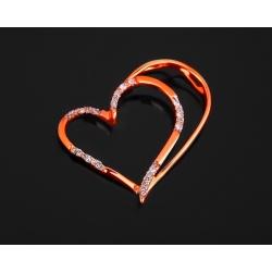 Золотой кулон-сердце с бриллиантами 0.05ct