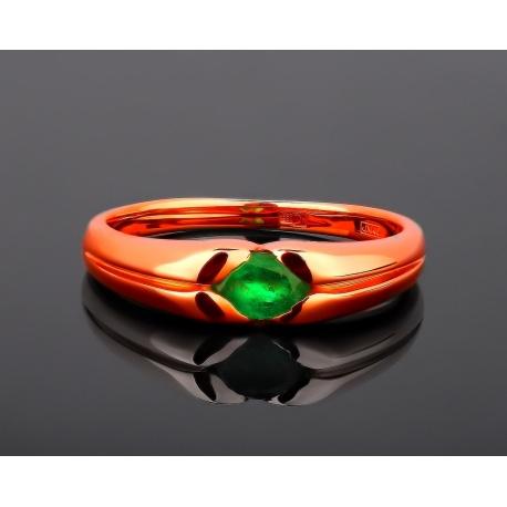 Золотое кольцо с природным изумрудом 0.40ct Артикул: 210317/44