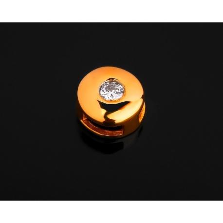 Золотая подвеска с бриллиантом 0.06ct Артикул: 261116/5