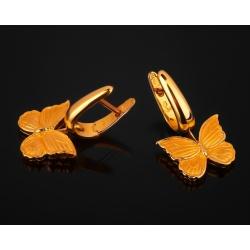 Carrera&carrera baile de mariposas золотые серьги
