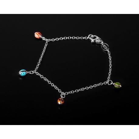 Aaron basha ladybug изысканный золотой браслет Артикул: 140917/3