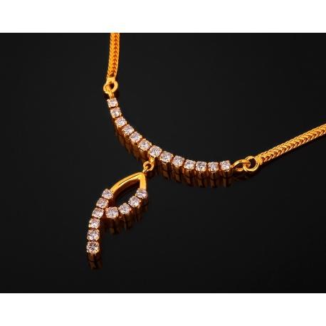 Эстетичное золотое колье с бриллиантами 1.01ct Артикул: 140817/4