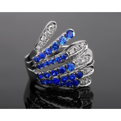 Alfierti&st.john бриллиантовое кольцо с сапфирами