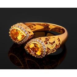Бриллиантовое кольцо с цитринами Floya