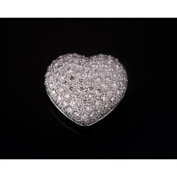 Чарующая золотая подвеска с бриллиантами 1.24ct
