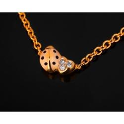 Aaron basha ladybug chain модное золотое колье