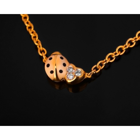 Aaron basha ladybug chain модное золотое колье Артикул: 091017/5