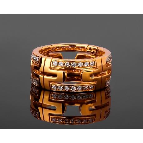 Bvlgari Parentesi изумительное золотое кольцо Артикул: 231017/1