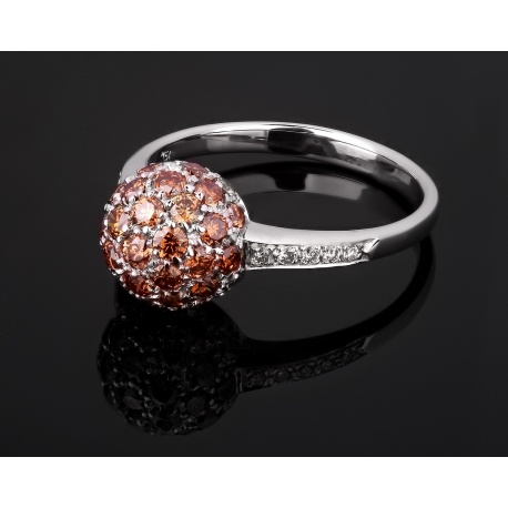 Шикарное золотое кольцо с бриллиантами 1.29ct Артикул: 081017/7