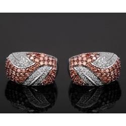 Модные золотые серьги с бриллиантами 3.81ct