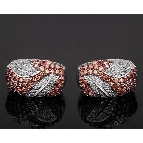Модные золотые серьги с бриллиантами 3.81ct Артикул: 231017/8