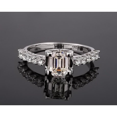 Роскошное золотое кольцо с бриллиантами 1.32ct Артикул: 080917/1