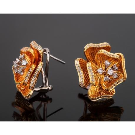 Изысканные золотые серьги с бриллиантами 0.62ct Артикул: 221017/19