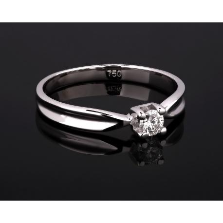 Помолвочное золотое кольцо с бриллиантом 0.13ct Артикул: 110517/18