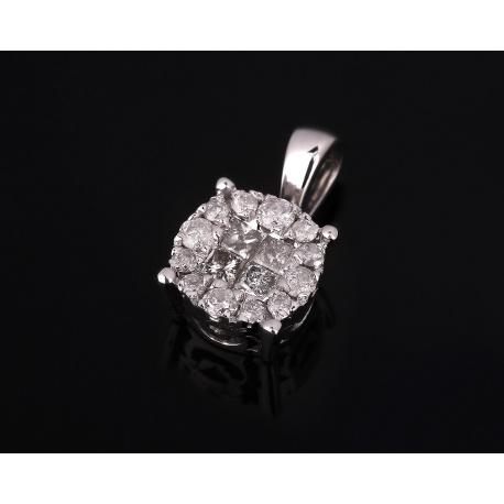 Золотая подвеска с бриллиантами 0.27ct Артикул: 260317/3