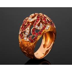 Magerit New Fire великолепное золотое кольцо