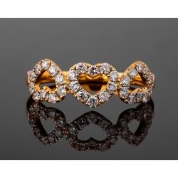 Романтичное кольцо с бриллиантами 0.54ct