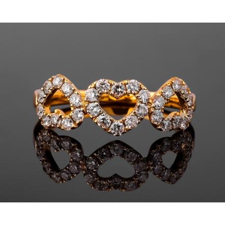 Романтичное золотое кольцо с бриллиантами 0.54ct Артикул: 131117/7