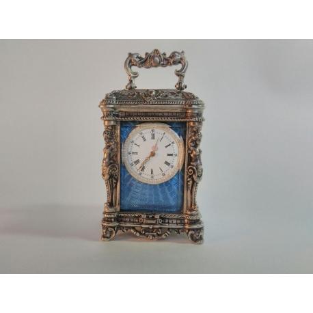 Серебряные каретные часы ( Лот VF 5709 )