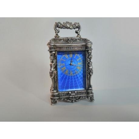 Серебряные каретные часы ( Лот VF 5713 )