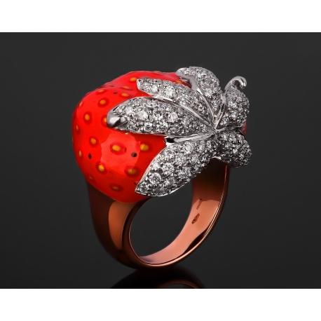 Santamaria Marco удивительное золотое кольцо Артикул: 231117/8