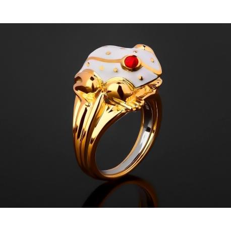 David Webb Frog красивое золотое кольцо с эмалями Артикул: 201117/2