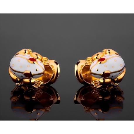David Webb Frog оригинальные золотые серьги Артикул: 201117/3