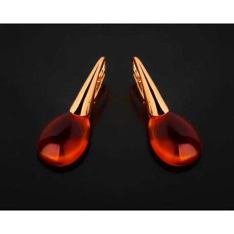 Pomellato золотые серьги с цитринами мадейра Артикул: 161117/6
