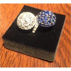 Винтажное кольцо с бриллиантами и сапфирами ( Лот LV 2750)